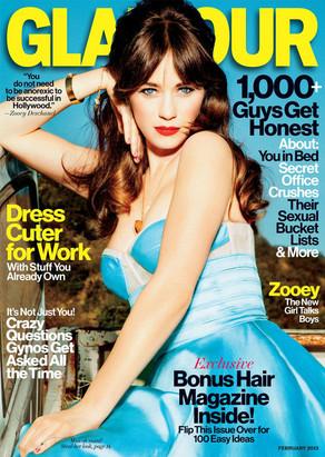 Zooey Deschanel, Glamour Magazine