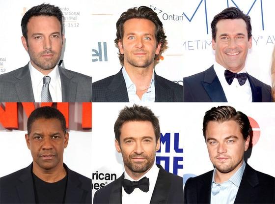 Bradley Cooper, Ben Affleck, Leonardo Dicapio, Denzel Washington, Jon Hamm, Hugh Jackman