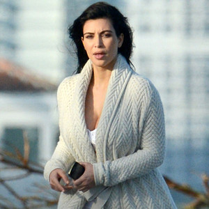 Kim Kardashian: Baby Bumpin' in a Bikini on Miami Beach