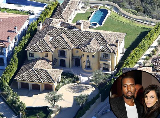 Kim Kardashian, Kanye West, Bel Air House