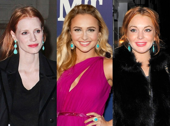 Lindsay Lohan, Jessica Chastain, Hayden Panettiere