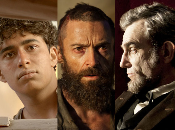 Lincoln, Les Mis, Life of Pi