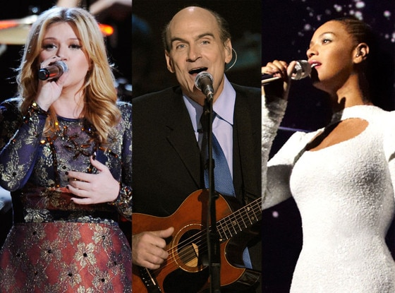 Kelly Clarkson, James Taylor, Beyonce