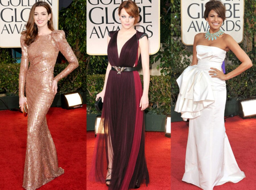 Anne Hathaway, Emma Stone, Eva Longoria