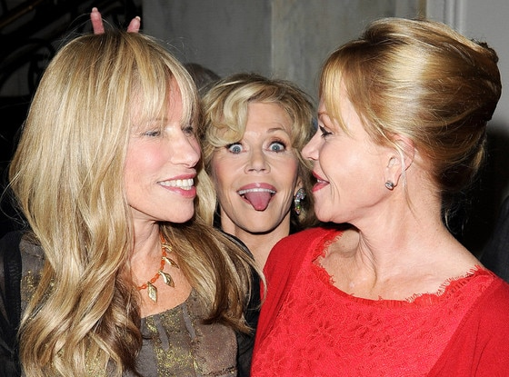 Carly Simon, Jane Fonda, Melanie Griffith, Photobomb