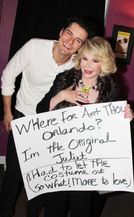 Orlando Bloom, Joan Rivers