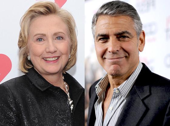 George Clooney, Hillary Clinton