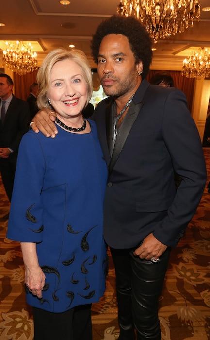 Hillary Clinton, Lenny Kravitz
