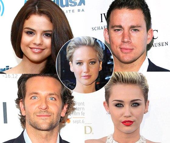 Jennifer Lawrence, Selena Gomez, Channing Tatum, Bradley Cooper, Miley Cyrus