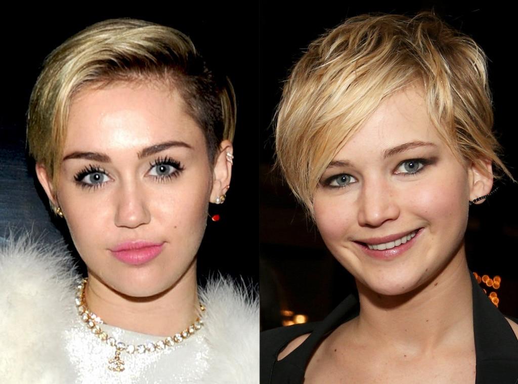 Jennifer Lawrence, Miley Cyrus