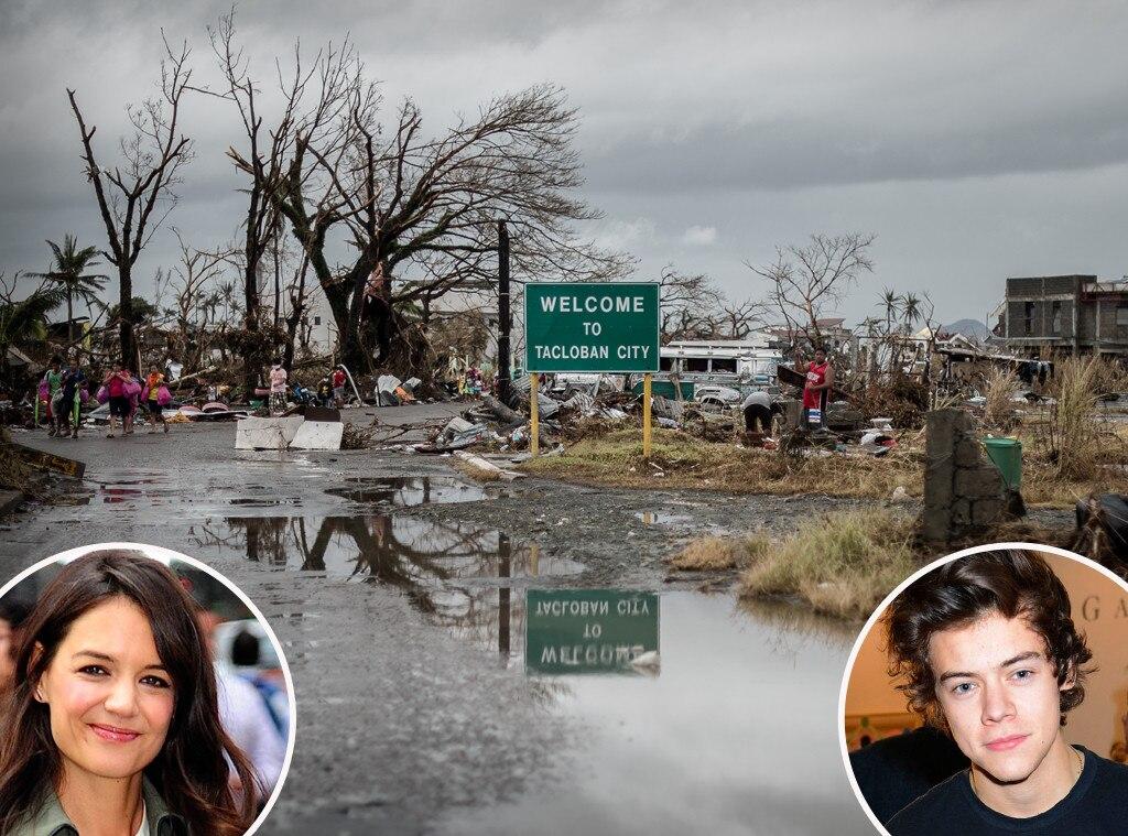 Philippines Typhoon, Katie Holmes, Harry Styles