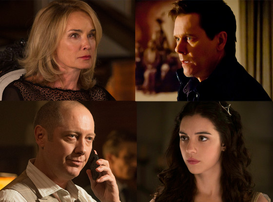 Jessica Lange, AHS: Coven,  James Spader, The Blacklist, Adelaide Kane, Reign, Kevin Bacon, The Following
