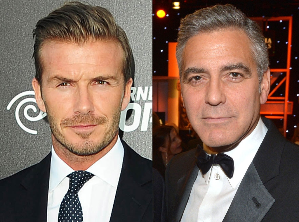 George Clooney, David Beckham