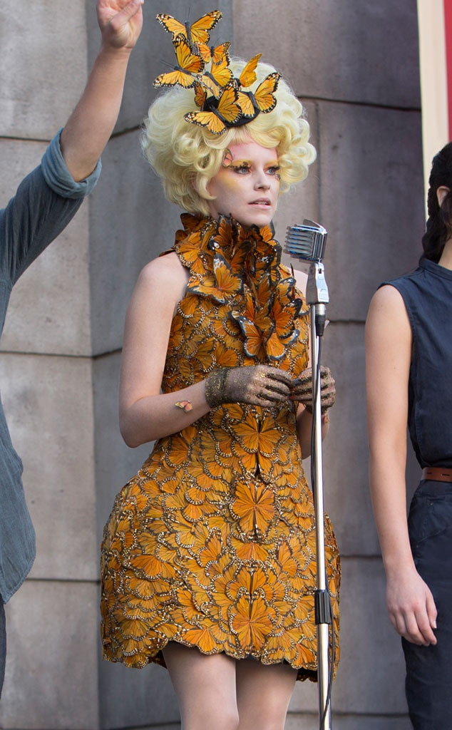 Elizabeth banks crazy catching fire butterfly dress