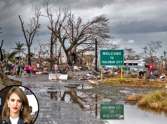 Jessica Alba, Phillippines Typhoon