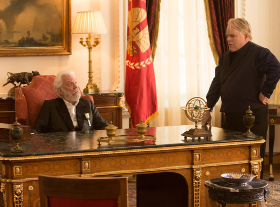 Donald Sutherland, Philip Seymour Hoffman, The Hunger Games, Catching Fire