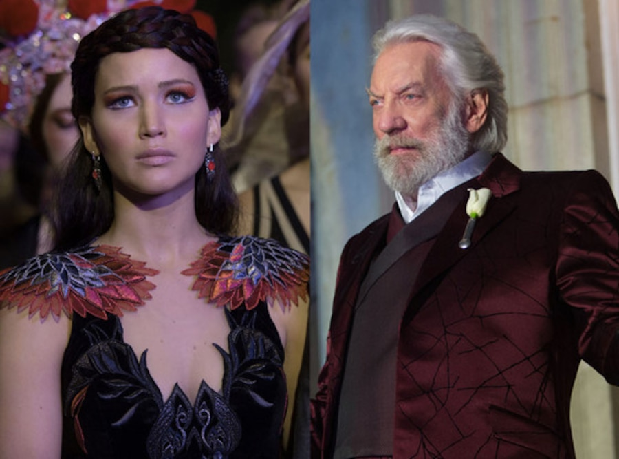 Donald Sutherland, Jennifer Lawrence, The Hunger Games, Catching Fire