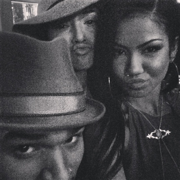 Chris Brown, Karrueche Tran, Jhene Aiko