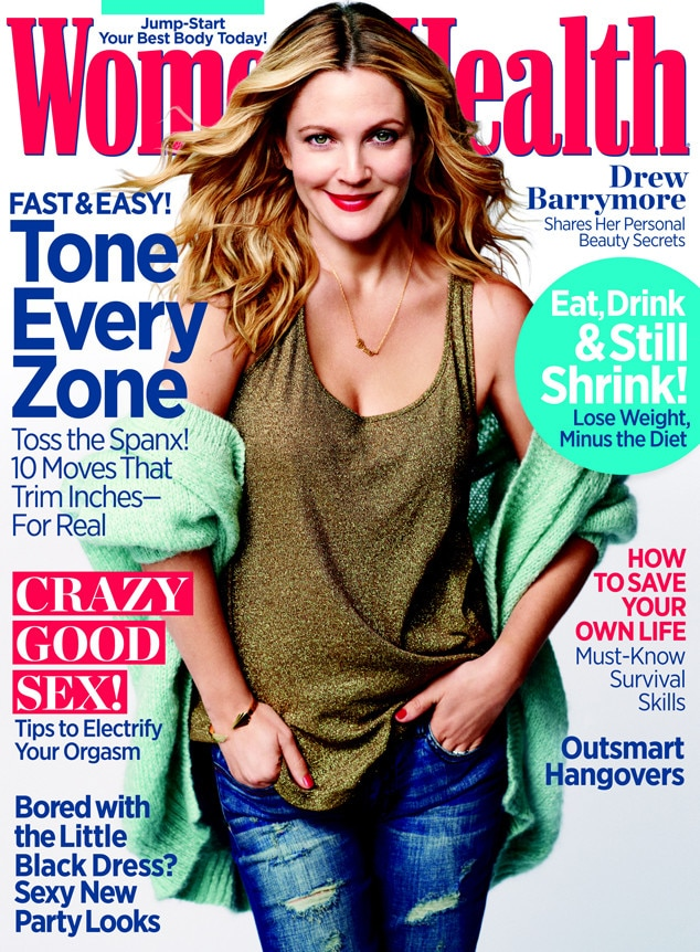 Drew Barrymore, Women's Health