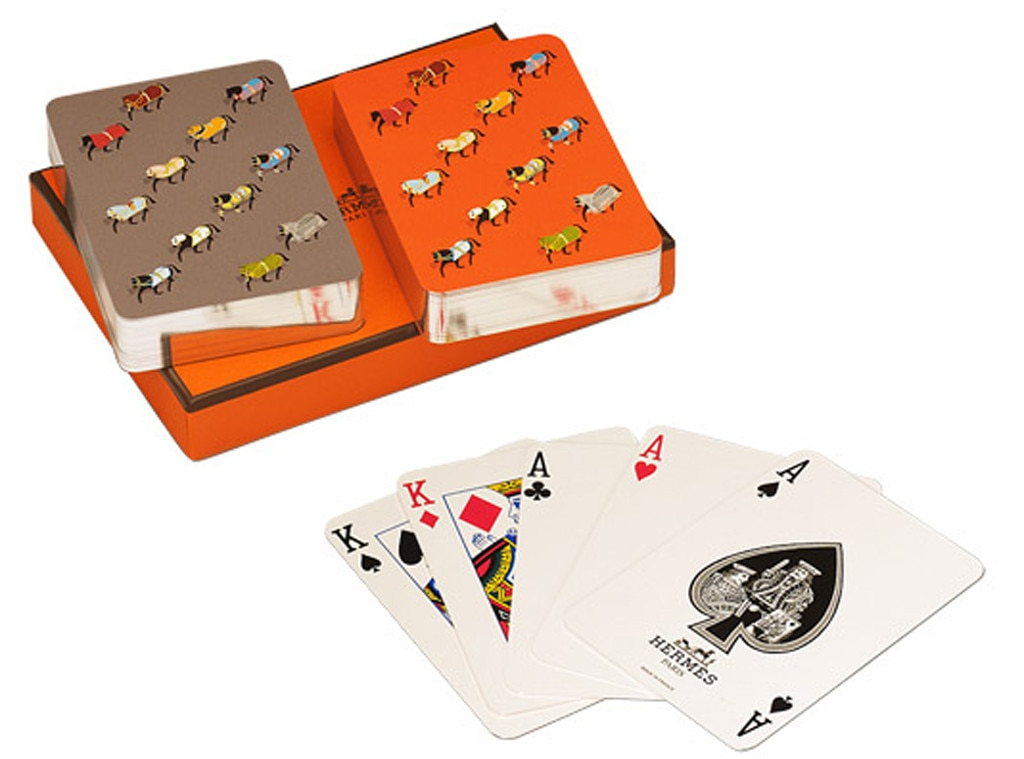 Hermes Baby Gifts Uk : Hermes playing cards from over the top items