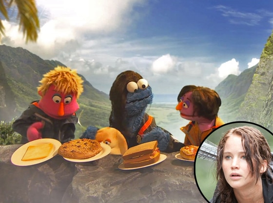 Hunger Games, Sesame Street, Jennifer Lawrence