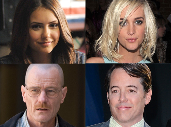 Nina Dobrev, Vampire Diaries, Ashlee Simpson, Bryan Cranston, Breaking Bad, Matthew Broderick