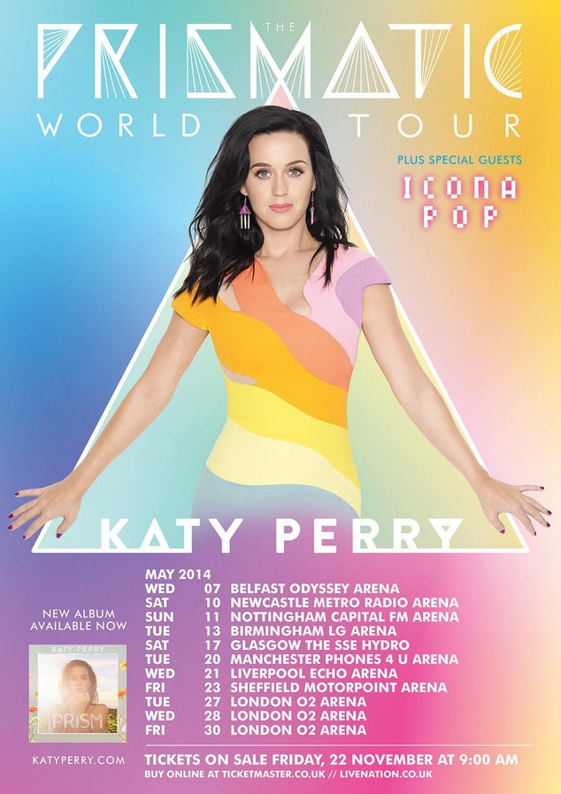 Katy Perry, Tour Dates