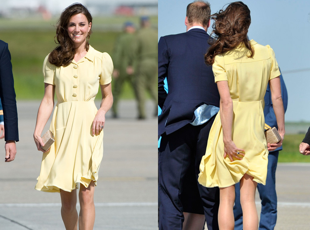 Kate Middleton, Calgary Airport, Yellow Dress