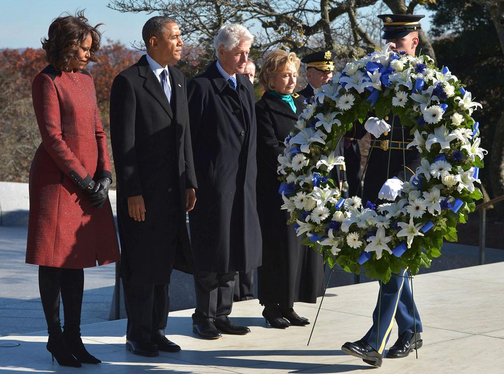 Barack Obama, Michelle Obama, Hillary Clinton, Bill Clinton