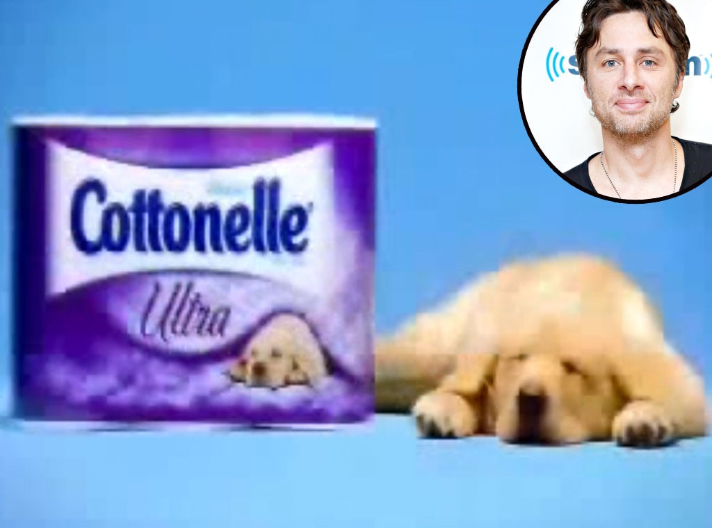Zach Braff, Cottonelle,Celebrity Voiceovers
