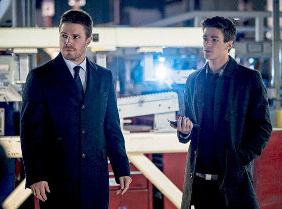 Stephen Amell, Grant Gustin, Arrow