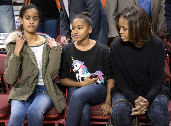Michelle Obama, Malia Obama, Sasha Obama