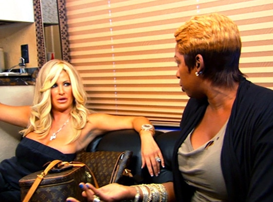 NeNe and Kim fight on Kandis tour bus, Real Housewives of Atlanta OMG Moments