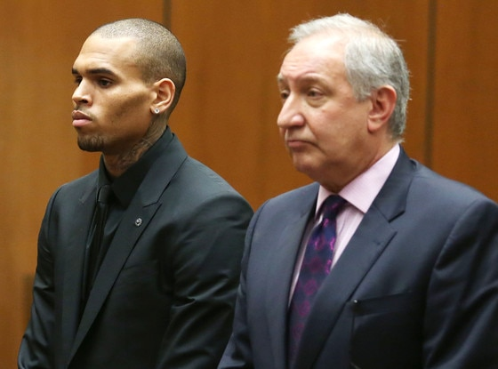 Chris Brown, Mark Geragos, Court