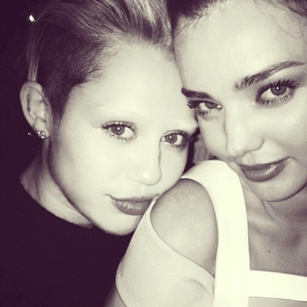 Miley Cyrus, Miranda Kerr, Instagram