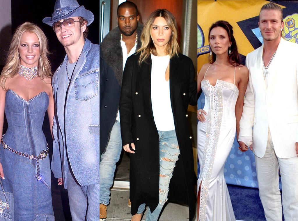 Justin Timberlake, Britney Spears, Kanye West, Kim Kardahsian, David Beckham, Victoria Beckham