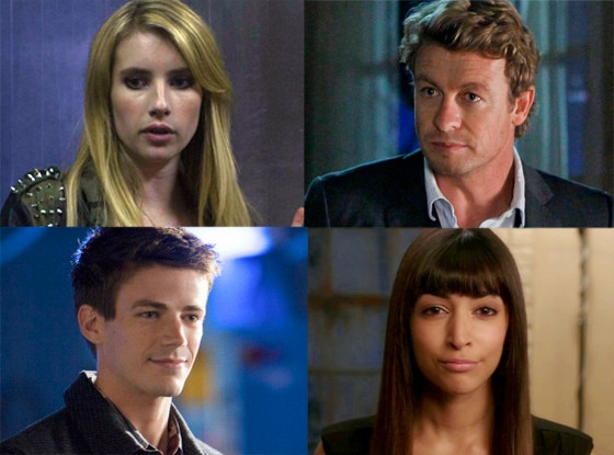 Simon Baker, The Mentalist, Emma Roberts, American Horror Story Coven, Hannah Simmone, New Girl, Grant Gustin, Arrow