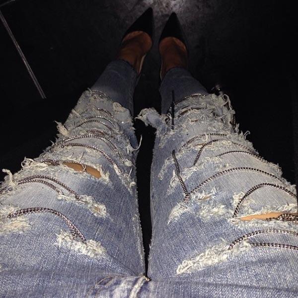 Kim Kardashian, Instagram, Jeans