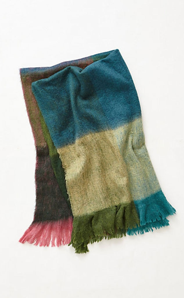 Nicole Richie Pinterest Gift Guide, Anthropologie Woven Gradient Throw