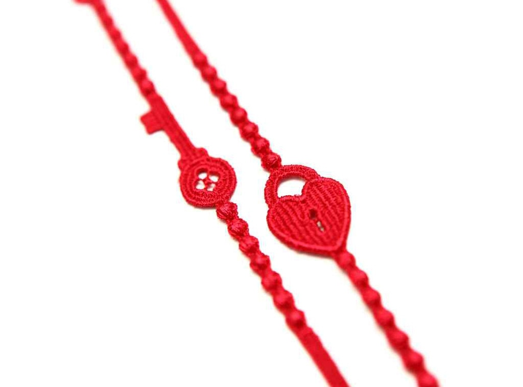 Cruciani C. Lock and Heart Bracelet