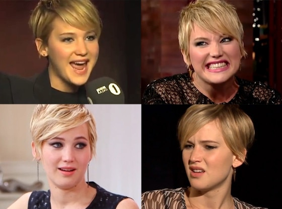 Jennifer Lawrence, faces