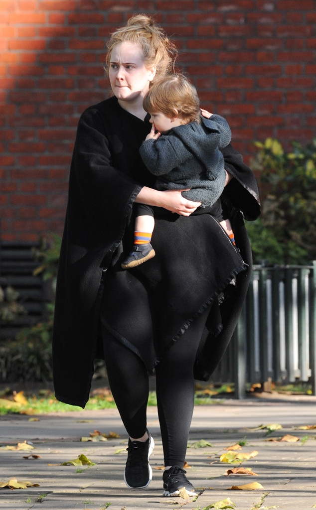 Adele Steps Out Without Makeup, Gives Rare Glimpse of Son ...