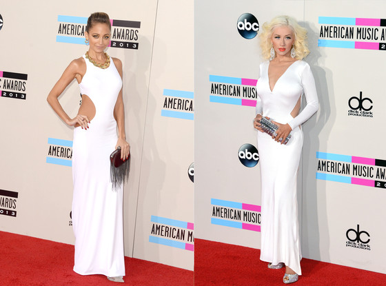 Nicole Richie, Christina Aguilera, 2013 American Music Awards