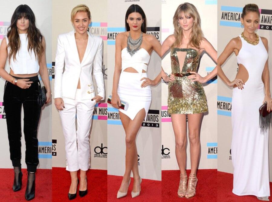 Taylor Swift, Nicole Richie, Kendall Jenner, Kylie Jener, Miley Cyrus, 2013 American Music Awards