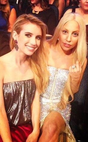 Emma Roberts, Lady Gaga