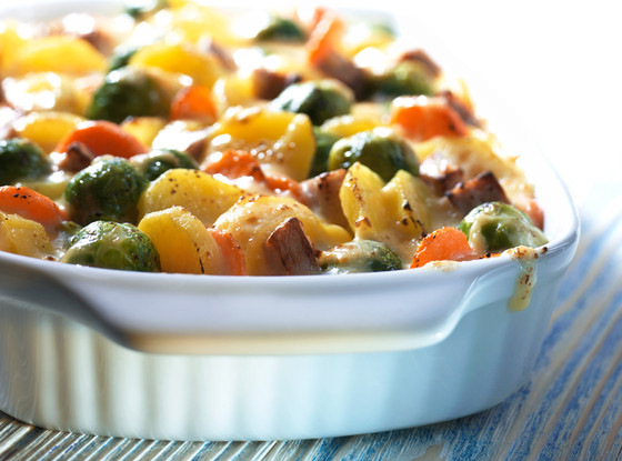Brussels Sprout and Potato Gratin, Thanksgiving Sides
