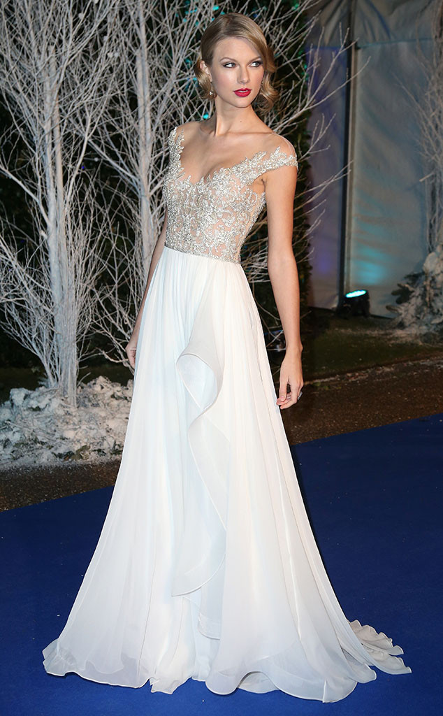 Taylor Swift, Kensington Palace, Centrepoint Winter Whites Gala, London
