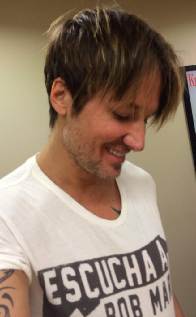 Keith Urban, hair