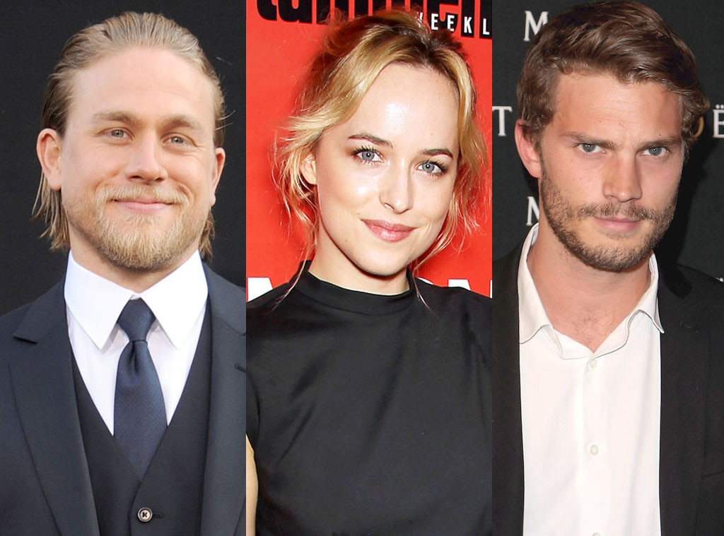 Jamie Dornan, Dakota Johnson, Charlie Hunnam