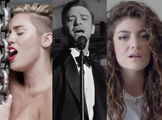 Miley Cyrus, Justin Timberlake, Lorde